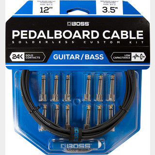BOSS BCK-12 『Pedalboard cable kit, 12connectors, 3.6m』~ソルダーレスケーブル~