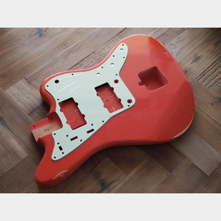 MJTJazzmaster Body - Alder - Fiesta Red - Light Relic