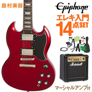 Epiphone Limited Edition 1961 G-400 PRO Candy Apple Red エレキギター 初心者14点セット マーシャルアンプ付