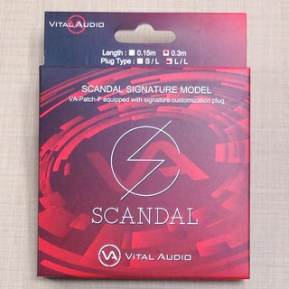 Vital Audio VA-Patch-F/SD 0.3m L/L(ショート) SCANDAL Signature Model Cable【数量限定特価】