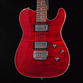 G&L Tribute ASAT Deluxe Carved Top Trans Red
