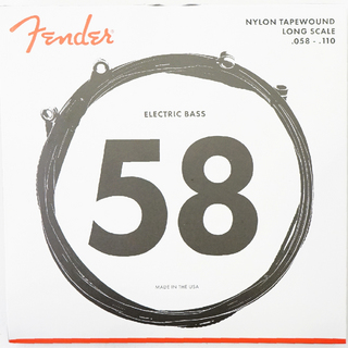 FenderBass Strings Nylon Tapewound 9120M 58-110 エレキベース弦×2セット