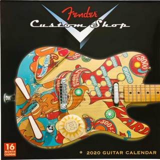 Fender USA 2020 CUSTOM SHOP CALENDAR (#9125013806)