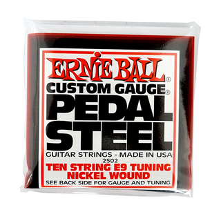 ERNIE BALL 2502 Pedal Steel 10-String E9 Tuning Nickel Wound 13-38 Gauge ペダルスチールギター弦