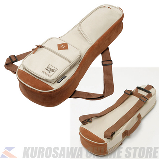 IbanezIUBS542 -Beige- POWERPAD Designer Collection w/Double Shoulder Straps for Soprano Style Ukulele