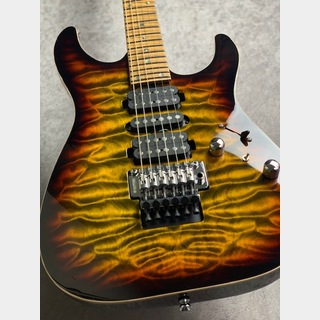 T's Guitars【動画有り】【新品同様中古】DST-Pro24 Quilted ~Tiger Eye Smoked Burst~