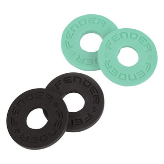 Fender Strap Block 4-Pack Black 2 and Surf Green 2 ストラップブロック