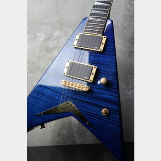 Jackson USA CustomShop RR1 Randy Rhoads V Reverse Head / Trans Blue