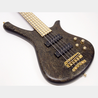 Warwick Custom Shop Fortress One 5st Custom Karelian Birch Top / Bleached Nirvana Black Transparent Satin