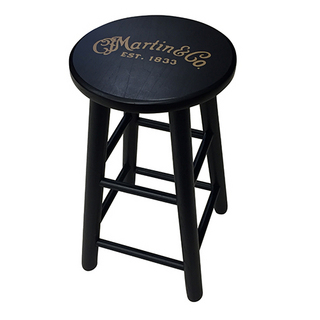 Martin Player stool with gold logo (Black Finish)