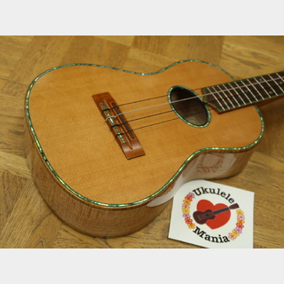 Maui Music Deluxe Curly Maple Cedar-top Custom Tenor with Curly Koa Binding and Paua Shell Inlay #3771