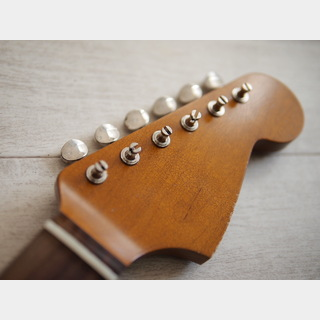 MJTAllparts Jazzmaster Neck - Maple/Indian Rosewood - 21F/Slab - Dark Amber - Medium Relic