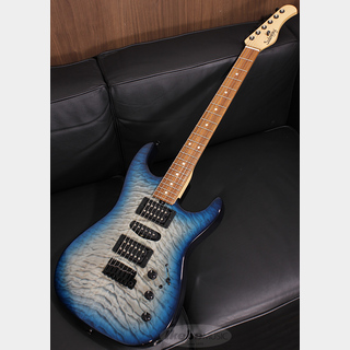 Sadowsky NYC Chambered Standard S-Style Quilted Maple on Ash / Morado Fingerboard / Faded T-Whale Blue Burst
