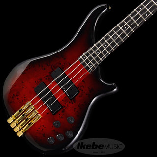 "Tune Zi III-4 Headless ""Burl Poplar"" (Black Red Burst)"