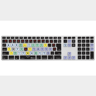 KB COVERS FCPX-AK-JIS-CC for Final Cut Pro X Apple Aluminium Keyboard JIS配列用キーボードカバー