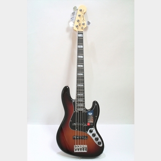 Fender American Elite Jazz Bass V, Ebony Fingerboard / 3-Color Sunburst