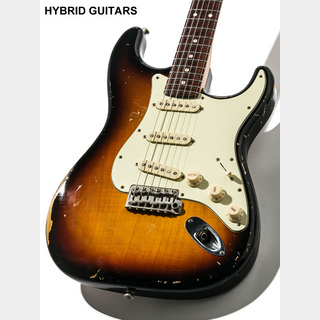 J.W.Black Guitars JWB-S 3 Tone Sunburst Midium Aged