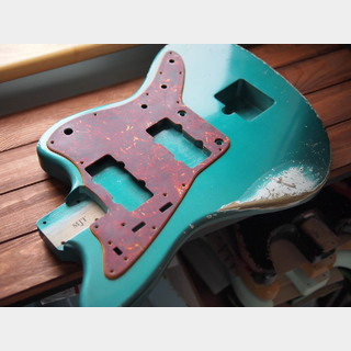 MJT Jazzmaster Body - Alder - Sherwood Green - Medium Relic