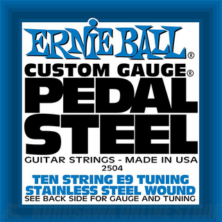 ERNIE BALL  #2504 Pedal Steel 10-String E9 Tuning Stainless Steel Wound Electric Guitar Strings