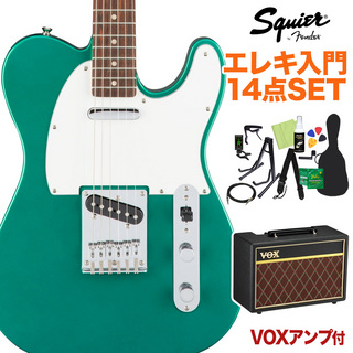 Squier by Fender Affinity Series Telecaster Race Green エレキギター 初心者14点セット 【VOXアンプ付き】 テレキャスター