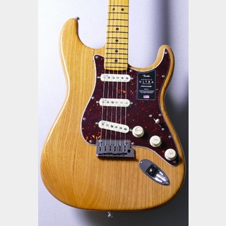 Fender 【アッシュボディ】 American Ultra Stratocaster -Aged Natural / MN- [3.68kg]【良杢個体!!】