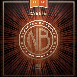 D'AddarioNickel Bronze Acoustic Guitar Strings NB1047 Extra Light 10-47【渋谷店】