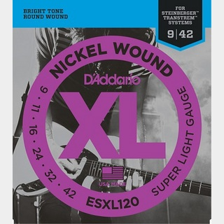 D'AddarioESXL120 Double Ball End Electric Guitar Strings Super Light 09-42 ダブルボールエンド 【渋谷店】