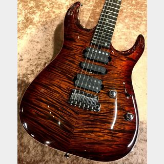 "T's Guitars DST Pro24 Carved Top ""AAAAA Flame Maple Top"" -Tiger Eye Burst- 【極上個体】【セール品】【渋谷店】"