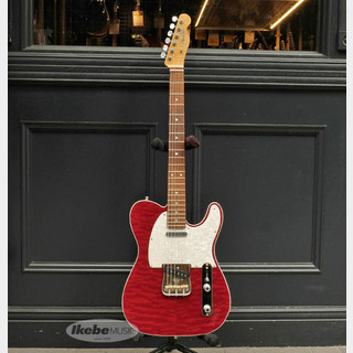 Fender Custom Shop Custom Built American Custom Telecaster Quilted Maple-Top (Bing Cherry Transparent/Rosewood)