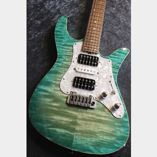 Crews Maniac Sound Custom Order Solution VMP Green Sapphire Burst /Brazilian Rosewood CTM#03 【極杢個体】【担当選定材】