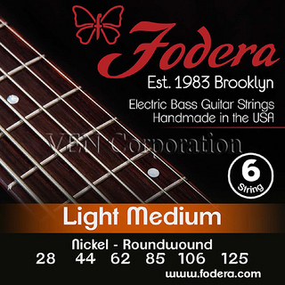 Fodera Fodera 6String Nickel Midam Light 28 44 62 85 106 125