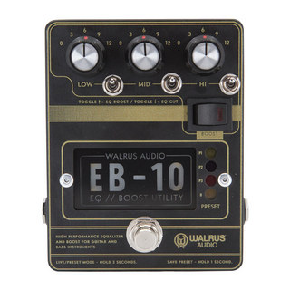 WALRUS AUDIO EB-10 Preamp // EQ // Boost 【渋谷店】
