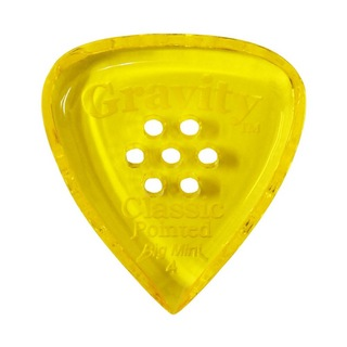 Gravity Guitar Picks Classic Pointed -Big Mini Multi-Hole- GCPB4PM 4.0mm Yellow ギターピック