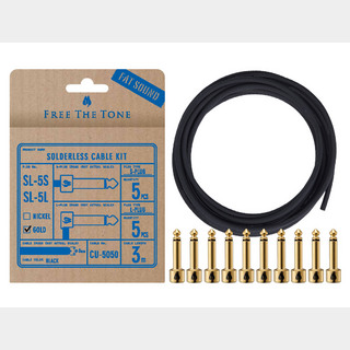 Free The Tone SL-5SL-GD-55K Gold ソルダーレスプラグキット CU-5050用 3m S,L 各5個入り