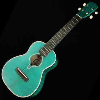 "Leilani Concert Curly Maple Green ""Shell Soundhole"""
