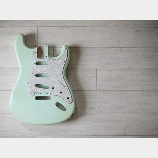 MJT Stratocaster Body - Alder- Surf Green - Light Relic