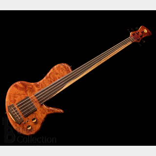 "Adamovic Eclipse 30 5st / 35"" Fretless (1pc. Figured Redwood Body) 【USED】"