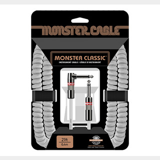 Monster Cable CLAS-I-21AC WH 21ft SL カールコード 楽器用シールドケーブル