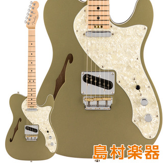 Fender American Elite Telecaster Thinline Maple Fingerboard Satin Jade Pearl Metallic Thinline