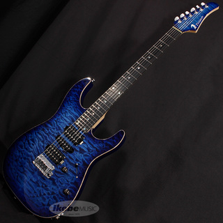 T's Guitars DST-Pro 24F Quilt Maple Top (Trans Blue Burst) w/Buzz Feiten Tuning System