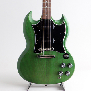 EpiphoneSG Classic Worn P-90s Worn Inverness Green