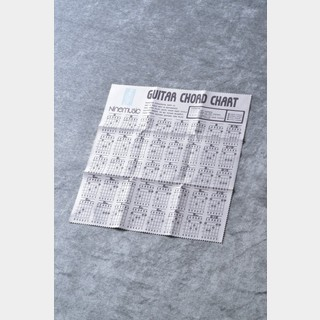 Nine music CL203 GRY(グレー) -Microfiber Guitar Clothes/Guitar Chord Chart- 《マイクロファイバークロス》