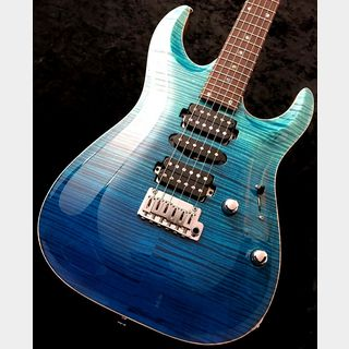 "T's Guitars DST Pro24 Carved Top Mahogany Limited""AAAAA Flame Maple/Honduras Mahogany"" -Blue Fade-"