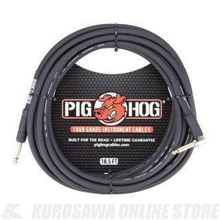 "Pig Hog 18.5'- 8mm Inst. Cable1/4""-1/4"" Right AngleCon《シールド/ケーブル》"