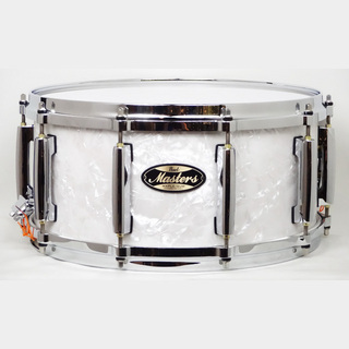 "PearlMasters Maple Gum 14""×6.5"" Matte White Marine MMG1465S/C #422"