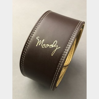 "moody MOODY STRAPS Leather&Leather2.5"" Standard -Brown/Cream-"
