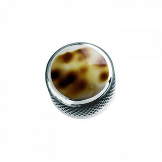 Q-PartsDOME KNOB TYPE [KCD-0029 / Leopard Shell Shell in Chrome] 【展示品処分特価】