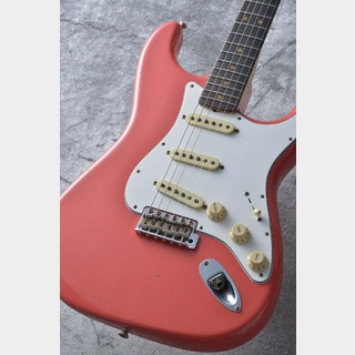 Fender Custom Shop 1964 Stratocaster Journeyman Relic Super Faded Aged Fiesta Red S/N CZ535105 ≒3.52kg