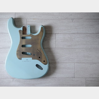 "MJT Stratocaster Body SSH ""Hardtail"" - Alder - Sonic Blue - Light Relic"