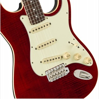 Fender Made in Japan FSR Aerodyne Classic Stratocaster FMT -Crimson Red Transparent / RW-